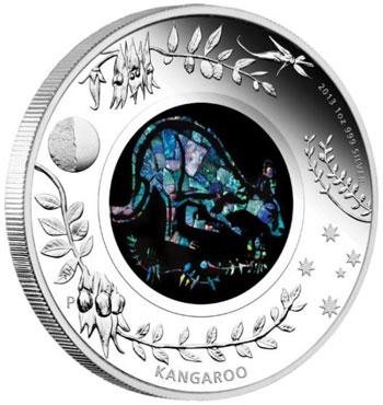 Opal Kangaroo Coin