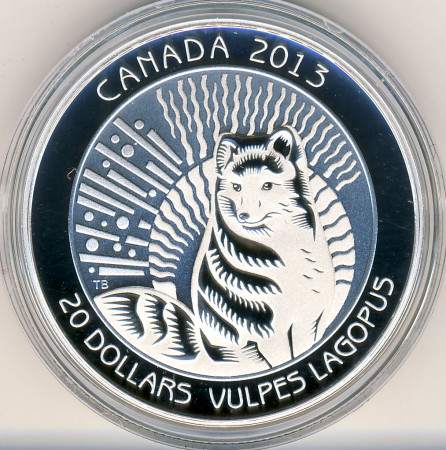 Arctic Fox Silver Coin