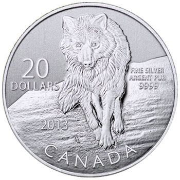 2013 Wolf $20 Silver Coin
