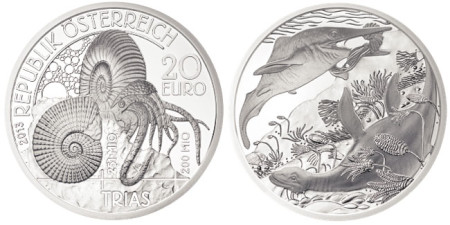 2013 Triassic Life in the Water Silver Coin