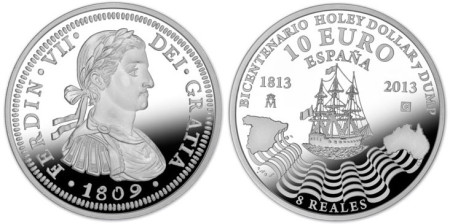 1809 8 reales coin