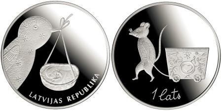 Latvia 1 Lats Baby Coin