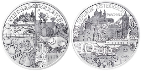 2013 Niederösterreich 20 Euro Silver coin