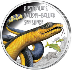 Yellow Bellied Sea Snake Silver Coin