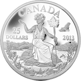 Canada An Allegory Silver Coin