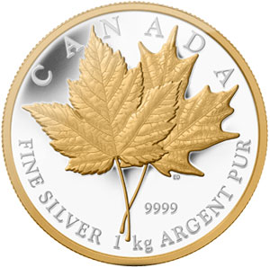 Maple Leaf Forever 1 Kilogram Silver Coin