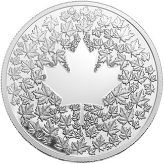 Maple Leaf Impression Silver Coin