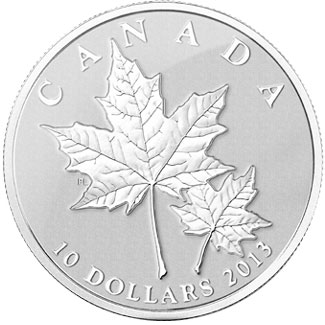 2013 Maple Leaf 1/2 oz silver coin