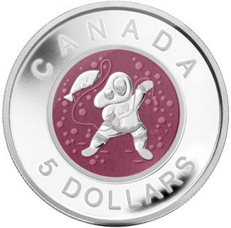 Silver Niobium Coin