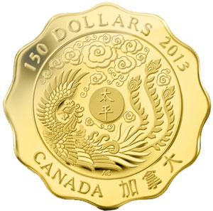 Blessings of Peace Gold Coin