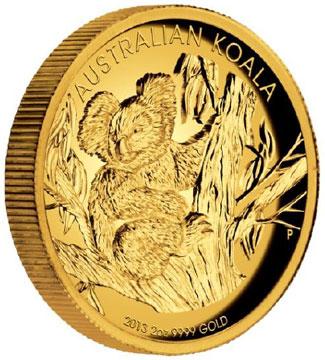 High Relief Gold Koala