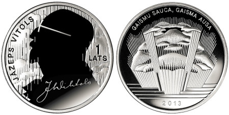 Jazeps Vitols Silver Coin
