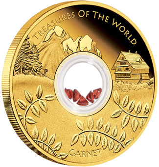 Treasures of the World Garnet Coin