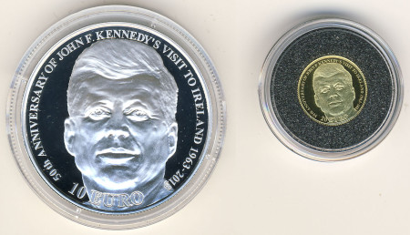 2013 Ireland John F. Kennedy Gold and Silver Coin