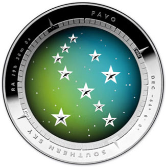 2013 Southern Sky Pavo Coin