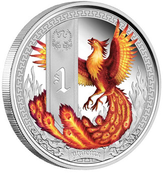 Mythical Creatures Phoenix Silver Coin