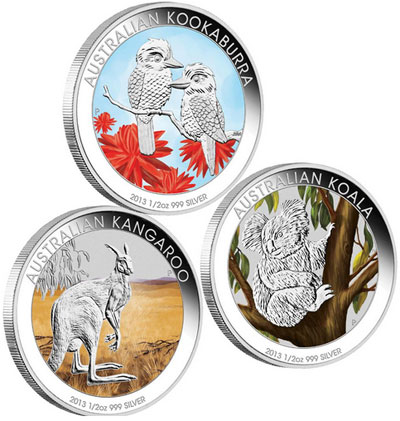 Australian Outback Three Coin Set