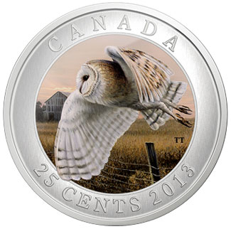 Barn Owl 25 cent coin