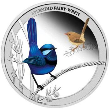 Splendid Fairy-wren Silver Coin