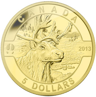 Caribou Gold Coin