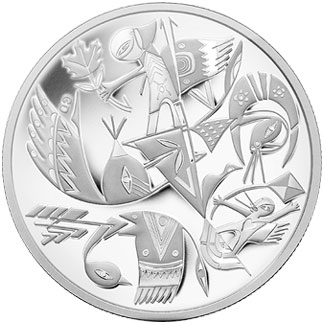 Contemporary Art Silver Coin