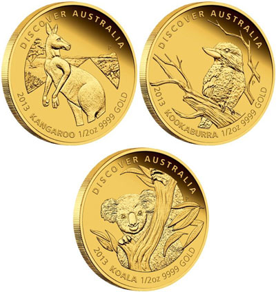 2013 Discover Australia Gold Coins
