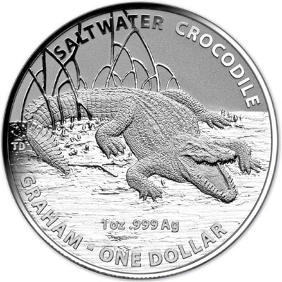 2014 Silver Crocodile Coin