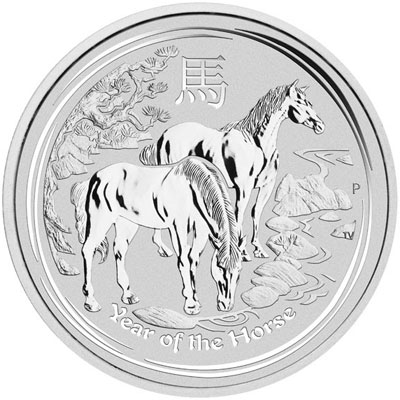 2014 Year of the Horse Silver Coin