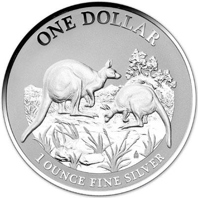 2014 Silver Kangaroo Coin