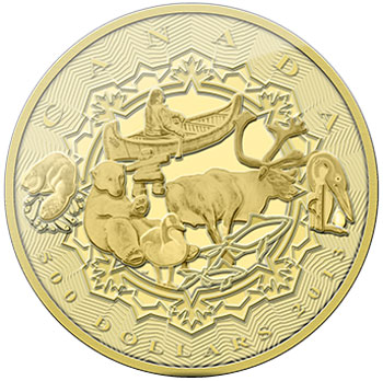 Aboriginal Story 5 oz Gold Coin