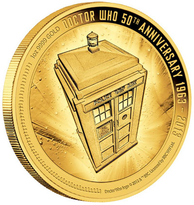 Doctor Who Gold Coin