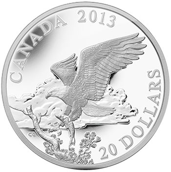 Bald Eagle Returning Silver Coin