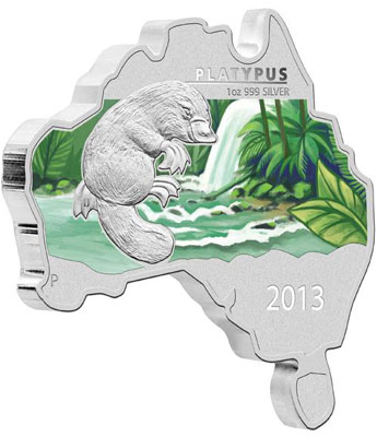Platypus Map Shaped Coin