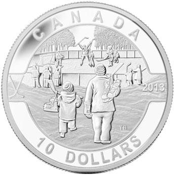 O Canada Hockey Silver coin