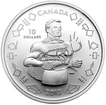 Vintage Superman Silver Coin