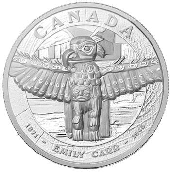 Emily Carr's Tsatsisnukomi 5 Kg Silver Coin