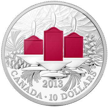 Holiday Candles Silver Coin