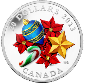 Holiday Season with Venetian Glass Cnady Cane Coin