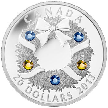 Holiday Wreath Silver Coin