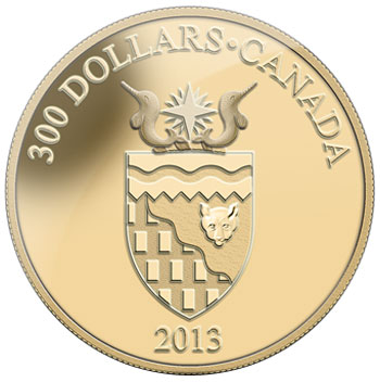 Northwest Territories Coat of Arms Gold Coin