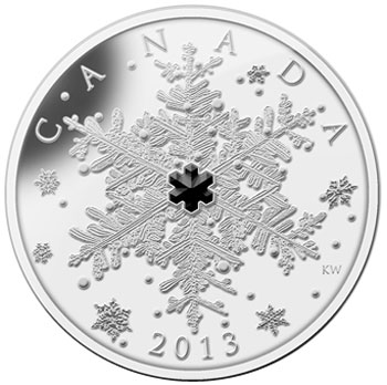 Winter Snowflake Silver Coin