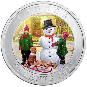 Snowman 3D Coin