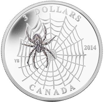 Animal Architects Spider and Web Silver Coin
