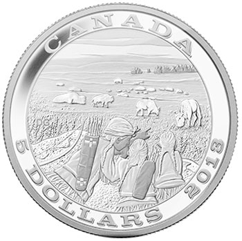 Tradition of Hunting Bison Silver Coin