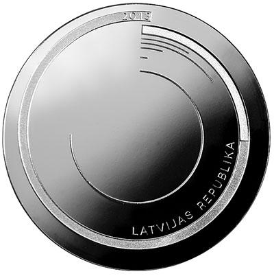 """Latvia 2013 """"365"""" 1 Lats Silver Coin"""