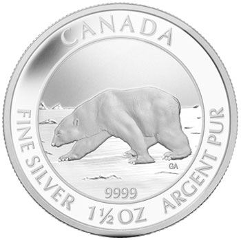 Polar Bear $8 Silver Coin