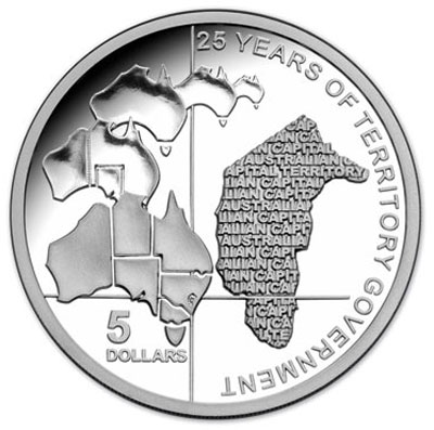 ACT 25 Year of Australian Government Silver Coin
