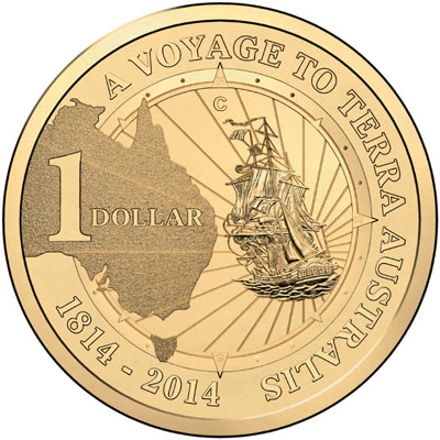 2014 A Voyage to Terra Australis $1 Coin