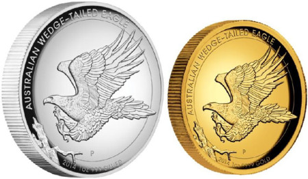 2014 Australian Wedge Tailed Eagel High Relief Coins