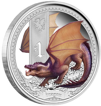 Mythical Creatures Dragon Coin